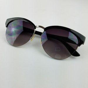 LOFT Black Half Frame Cat Eye Sunglasses